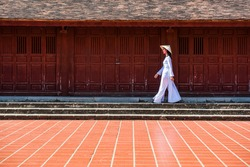 Beautiful Vietnam girls from hue who wearing Ao dai. It's a vietnamese national costume.People hope to preserved vietnamese culture.You can see women in ao dai in many city Ex. hue, hoi an and danang.