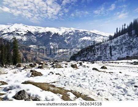 Beautiful view at solang valley #362634518