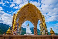 Beautiful view at Wat Pha Sorn Kaew or Phra Thart Pha Kaew.Famous beautiful temple in Thailand.Landmark of khao kor.