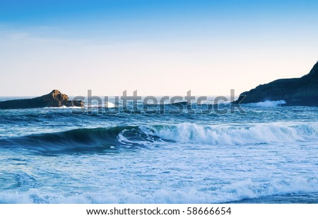 beautiful view, blue ocean, seascape