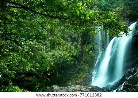 Beautiful view Bukit Bertangga Waterfall, Malaysia #771012382