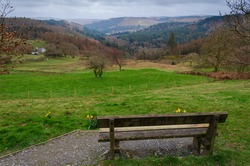 Beautiful view from the Ty'n Llwyn car park in the Gwydir Forest Park which is in the Snowdonia National Park.