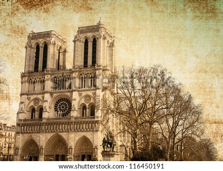 beautiful view notre dame...