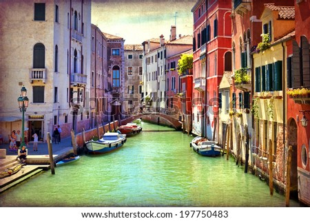 beautiful view of a canal in...