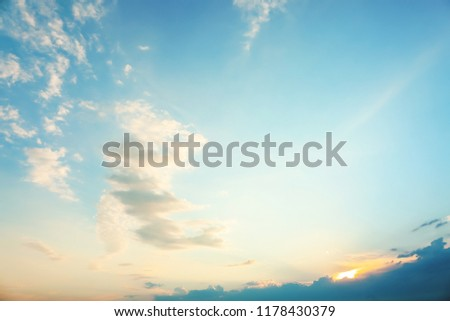 Beautiful view of blue sky with clouds #1178430379