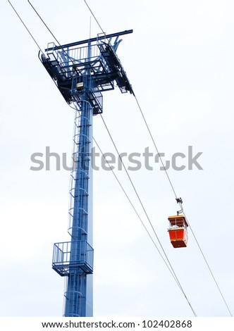 beautiful view of Cable car