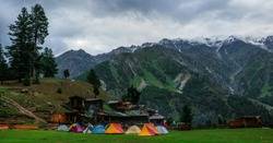 Beautiful view of Camping area of fairy meadows & nagha parbat