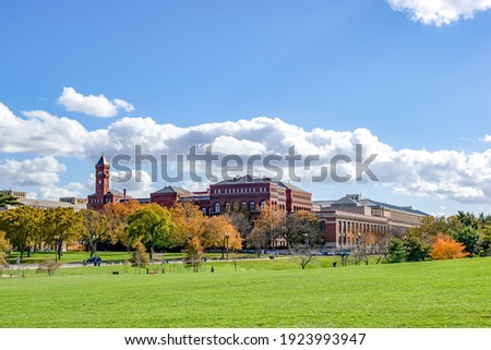 beautiful view of clemson university historic building on a sunny day ストックフォト ©
