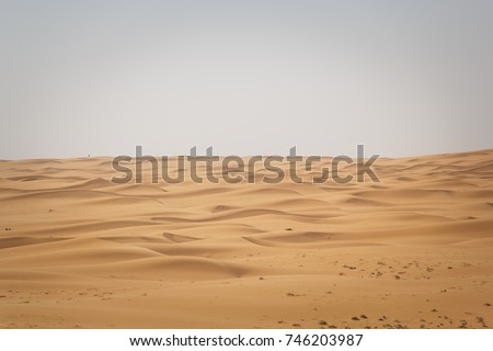 beautiful view of desert Sand dunes from zulfi riyadh saudi arabia