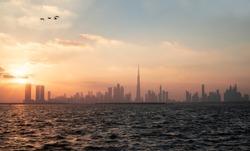 Beautiful view of Dubai skyline