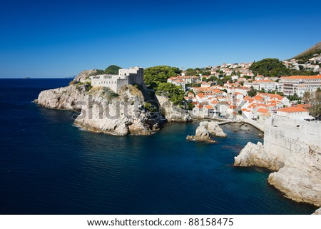 Beautiful view of Dubrovnik town Croatia