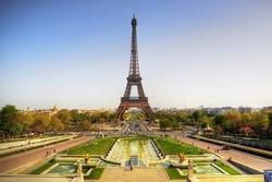 Beautiful view of Eiffel tower, Paris, France