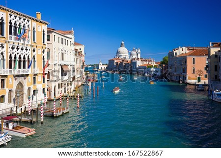 Beautiful view of famous Grand Canal in Venice, Italy #167522867