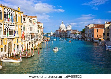 Beautiful view of famous Grand Canal in Venice, Italy #169455533