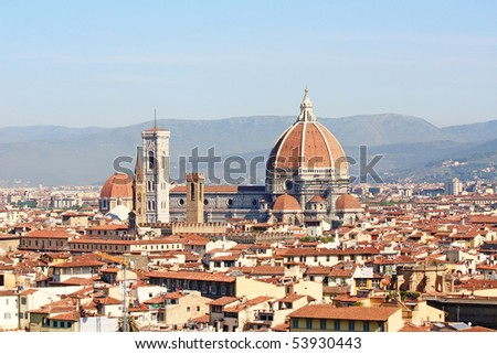 Beautiful view of Florence, Italy
