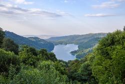 Beautiful view of Geygel Lake, Ganja region, Azerbaijan