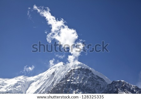 Beautiful view of Himalayan mountains, Annapurna Region, Nepal