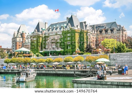 Beautiful view of Inner Harbour of Victoria, Vancouver Island, B.C., Canada ストックフォト ©