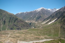 Beautiful view of Lalazar, mountainous Naran and Kaghan Valley, Mansehra District, Khyber-Pakhtunkhwa, Northern Areas of Pakistan