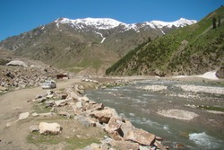 Beautiful view of Lalazar, mountainousat Kaghan  Valley, Mansehra District, Khyber-Pakhtunkhwa, Northern Areas of Pakistan