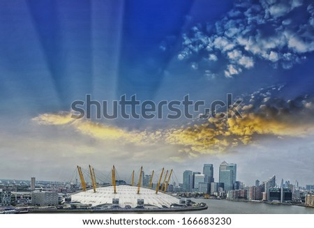 Beautiful view of London's skyline