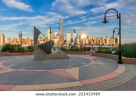 Beautiful view of Manhattan from Jersey City #221453989