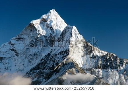beautiful view of mount Ama Dablam - way to Everest base camp - Nepal