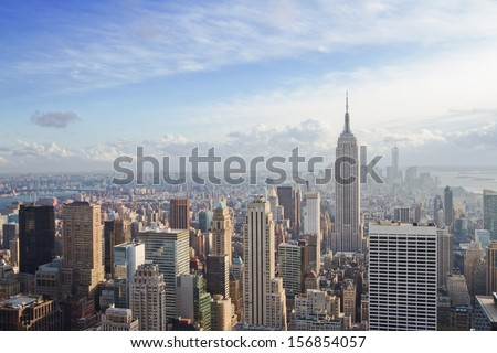 beautiful view of New York city #156854057