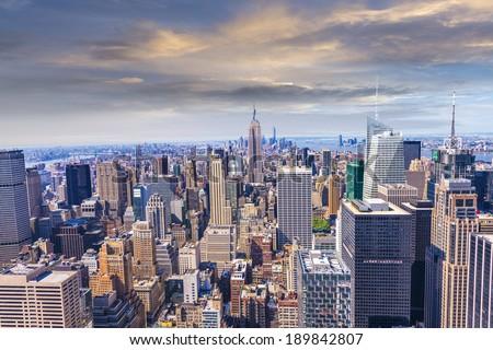 Beautiful view of  New York City skyline. #189842807