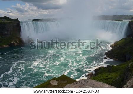 Beautiful view of Niagara falls  #1342580903
