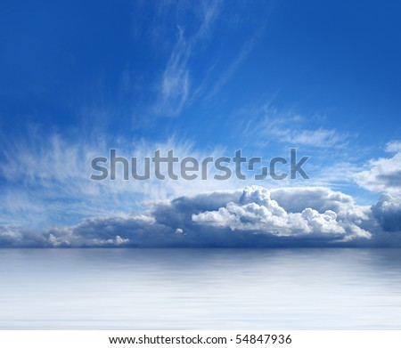 Beautiful view of sky and sea - stock photo