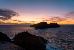 Beautiful view of sunset at Poro Santo Island
