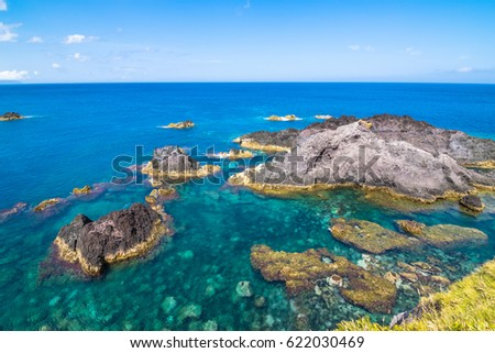 Shutterstock Beautiful view of the beach in Santa Cruz das Flores Village - Flores Island - Azores Portugal