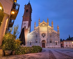 Beautiful view of the Duomo (Monza Cathedral), Monza, Milan, Lombardy, Italy