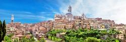 Beautiful view of the historic city of Siena, Tuscany, Italy