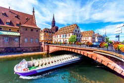 Beautiful view of the historic town of Strasbourg, Alsace, France