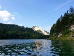 Beautiful view of the lake Klaus, Klaus an der Pyhrnbahn, Austria