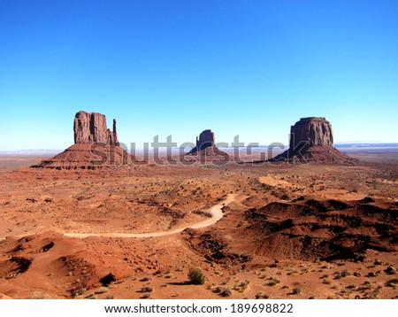Beautiful view of the Monument Valley in America