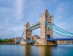 Beautiful view of Tower Bridge in London United Kingdom UK.