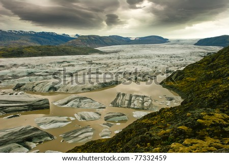 Beautiful view of Vatnajokull glacier,Iceland