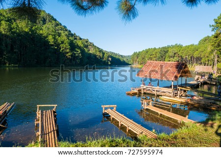 Beautiful view pine forests, , Pang Oung Mae Hong Son - Shutterstock ID 727595974