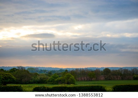 Beautiful view sky through trees in Hodnet Hall Gardens in Hodnet #1388553812