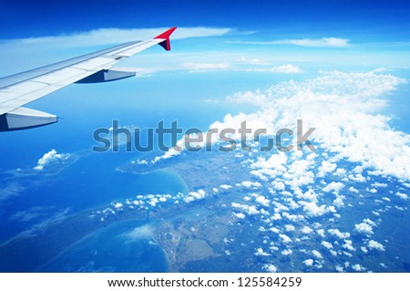 Beautiful view took from the airplane