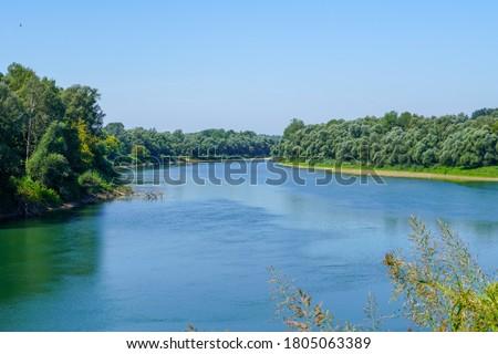 Beautiful view towards the river Sava.  Stok fotoğraf ©
