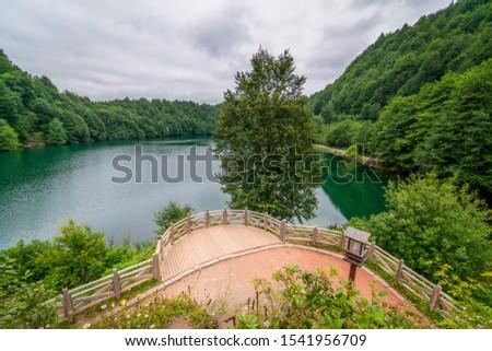 Beautiful views from Ulugol(Golkoy) Nature Park, Ordu, Turkey Stok fotoğraf ©