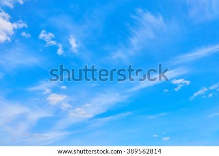 Beautiful views of  blue sky, white clouds arranged randomly - Shutterstock ID 389562814