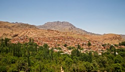 Beautiful village of Abyaneh with it's unique red soil located between KASHAN and ISFAHAN.