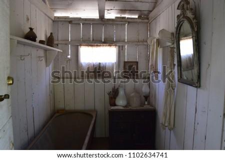 beautiful vintage bathroom at...