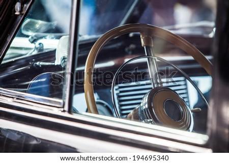 beautiful vintage car steering wheel #194695340