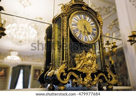 beautiful vintage clocks with...